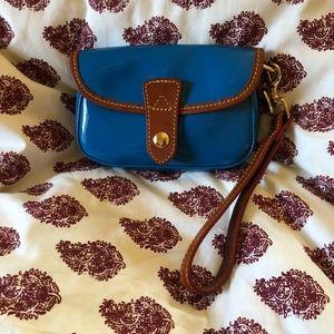 Dooney & Bourke Blue Patent Leather Small Wristlet